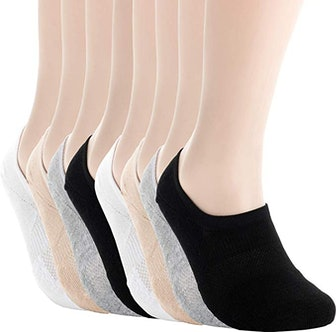 Pro Mountain Unisex No-Show Cushioned Athletic Socks (8-Pack)