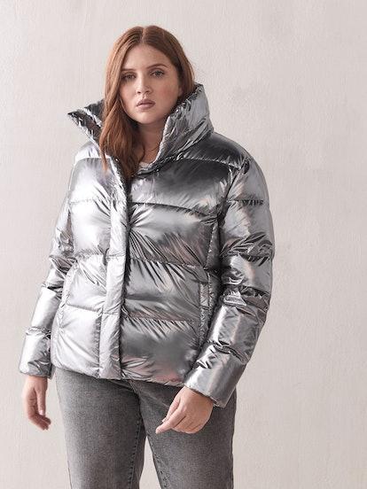 Metallic Down Puffer Jacket