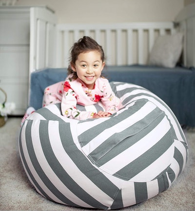 WEKAPO Stuffed Animal Storage Bean Bag Chair Cover