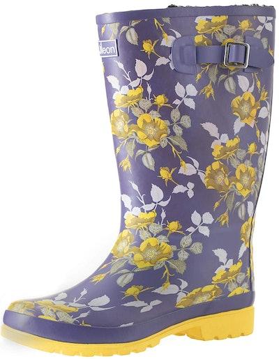 Jileon Wide Calf Rain Boots For Women