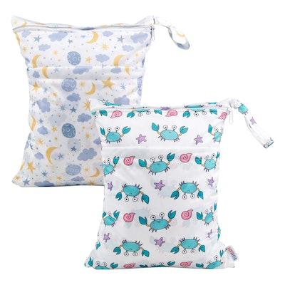 Alvababy Cloth Diaper Wet Bags (2-Pack)