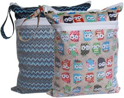 Sleeping Lamb Cloth Diaper Wet Bag, Small (2-Pack)
