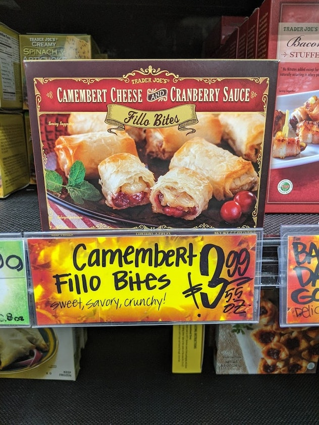 Camembert Cheese & Cranberry Sauce Filo Bites  from Trader Joe's