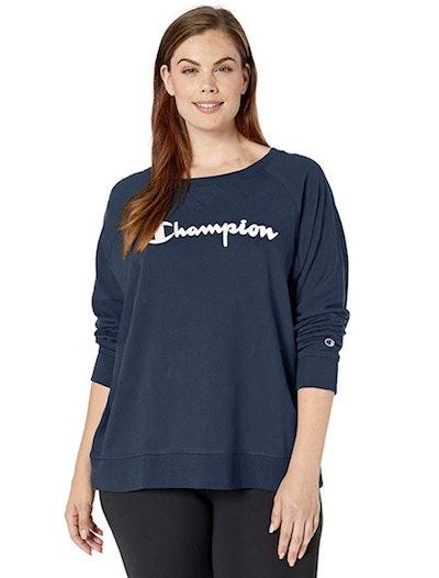 Champion Plus-Size Terry Crew Sweater
