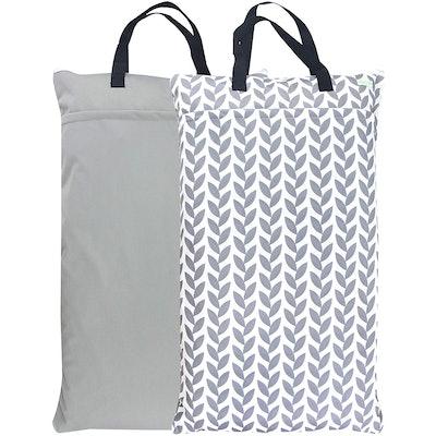 Wegreeco Cloth Diaper Wet Bag (2-Pack)