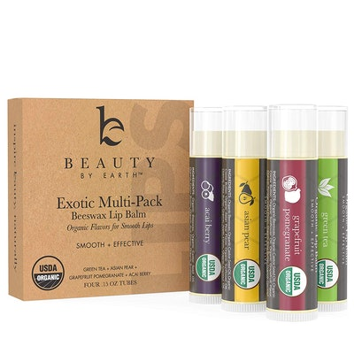Beauty by Earth 4 Tubes of Natural Lip Balm (4-Pack)