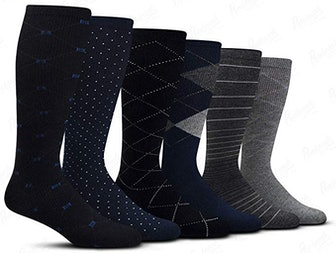 Pembrook Men's Compression Socks With Graduated Muscle Support  (6-Pack)