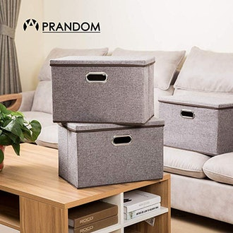 Prandom Large Collapsible Storage Bins (3-Pack)