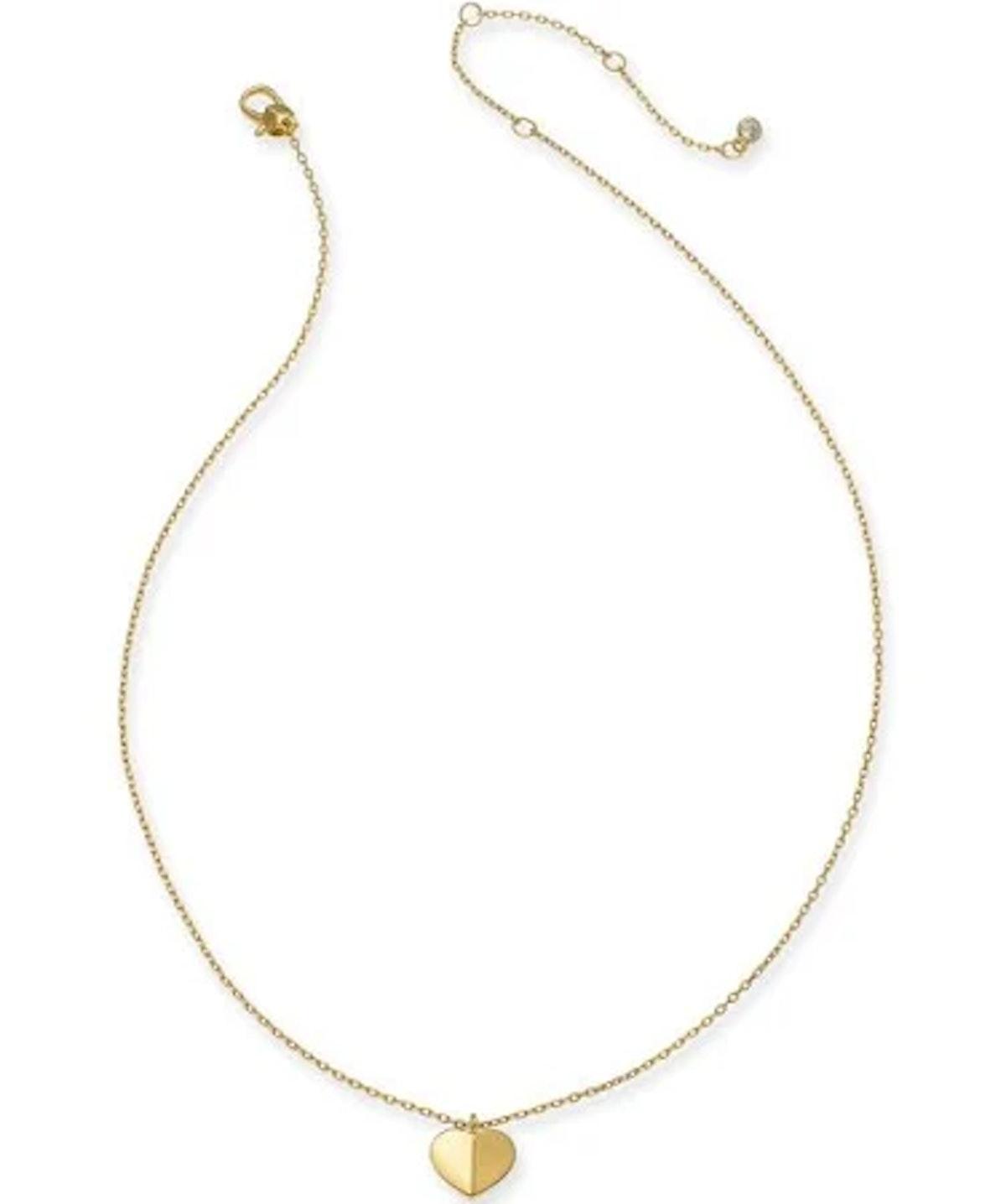 Kate Spade Gold-Tone Heart Pendant Necklace