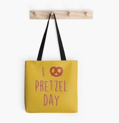 I love Pretzel Day Tote Bag