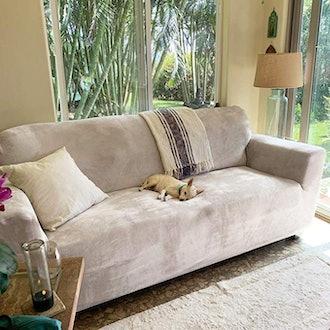 Rose Home Fashion RHF Velvet-Sofa Slipcover
