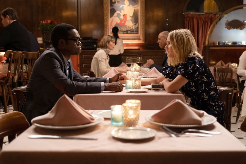 William Jackson Harper as Chidi and Kristen Bell as Eleanor in 'The Good Place' series finale