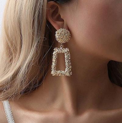 ATIMIGO Statement Drop Earrings