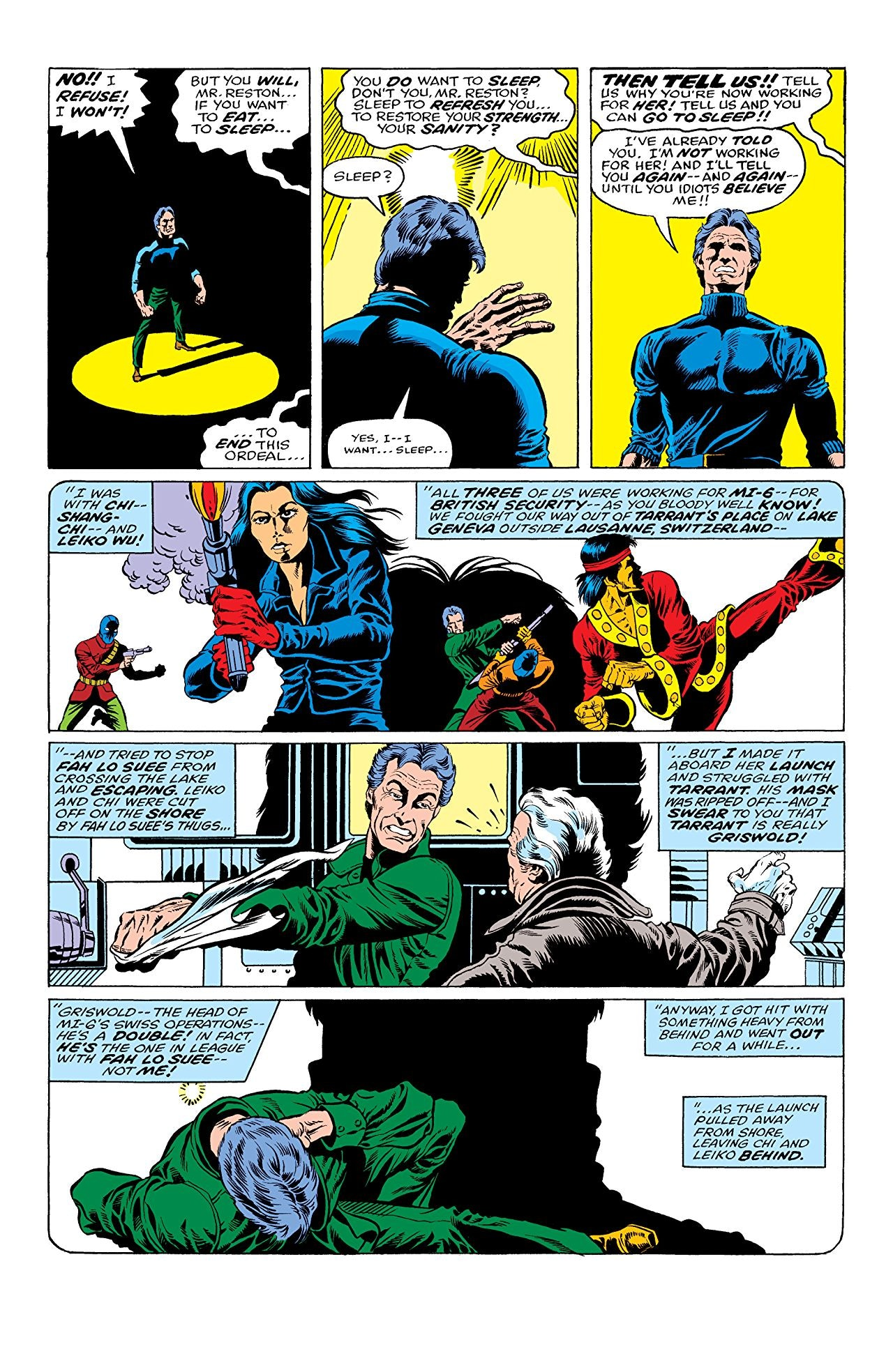 Marvel Shang-Chi Clive Reston Leiko Wu
