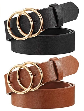 Syhood Faux Leather Belt (2-Pack)