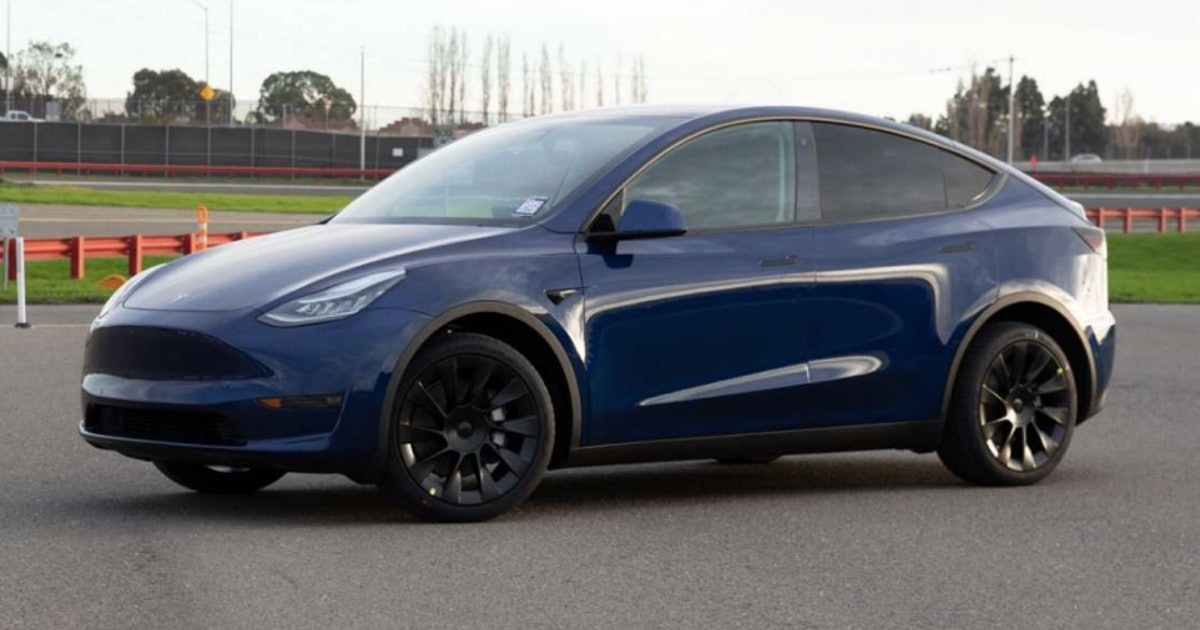 This is Tesla's production-ready Model Y crossover