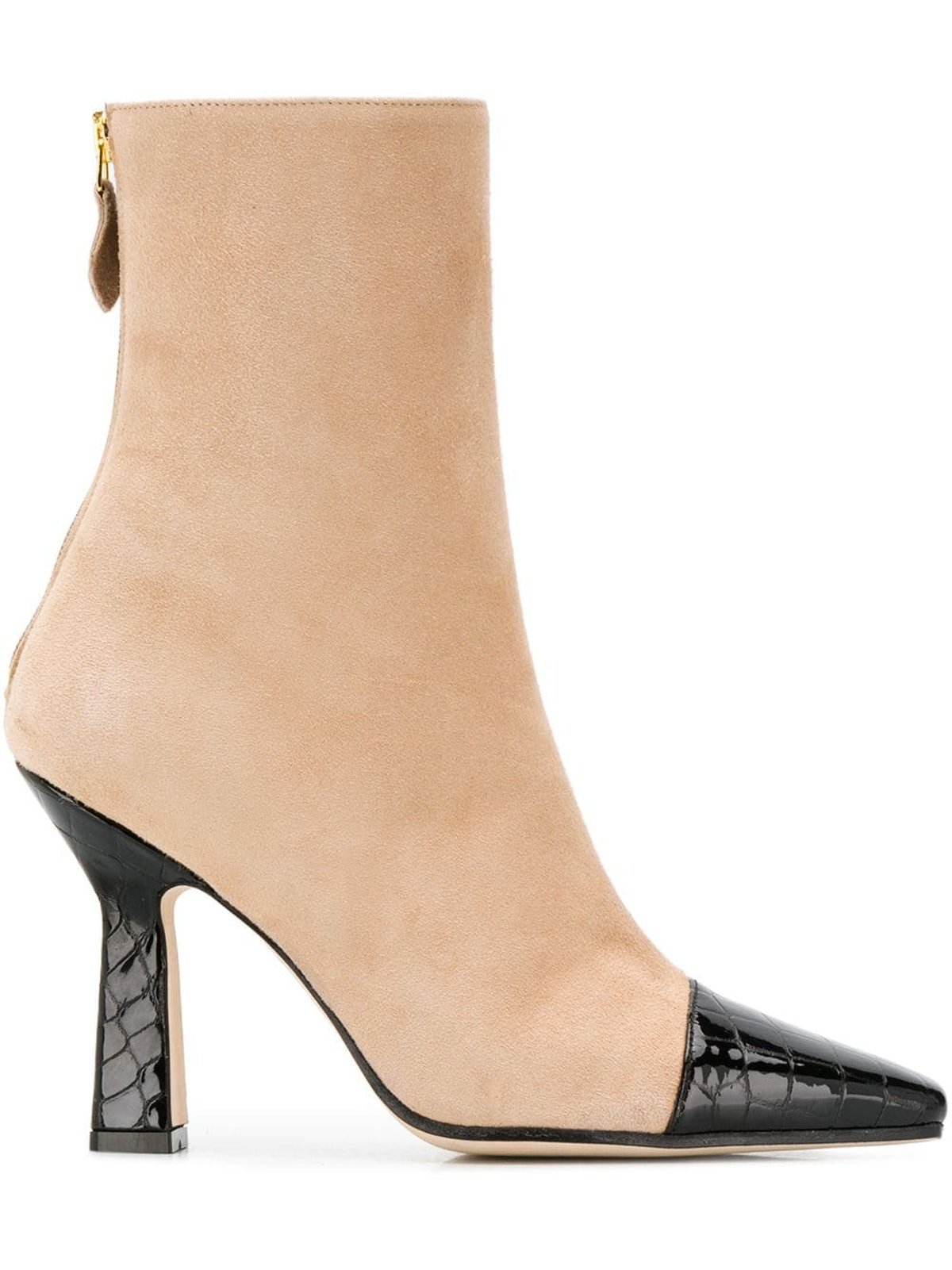 Contrasting Toe Ankle Boots