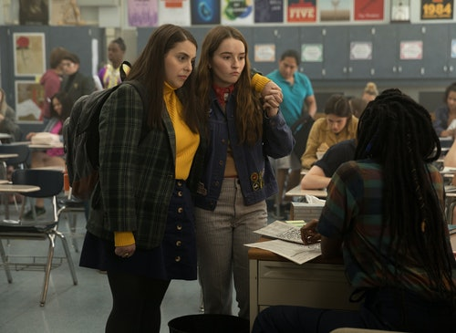 Beanie Feldstein as Molly and Kaitlyn Dever as Amy in 'Booksmart,' a good happy movie to watch after a fight with your partner