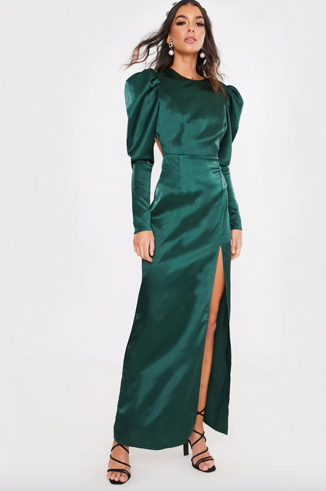 Copy Jodie Comer's Golden Globes 2020 gown with this emerald green In The Style dress