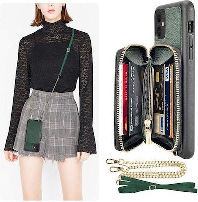 LAMEEKU iPhone 11 Wallet Case