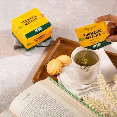 VAHDAM Turmeric & Matcha Superfood Elixir Mix (10-pack)