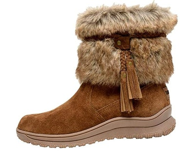 Minnetonka Women's Everett Suede Fur Boot