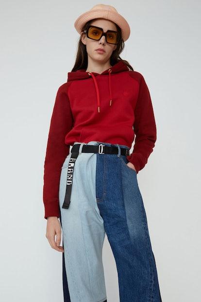 Two-Toned Hooded Sweatshirt