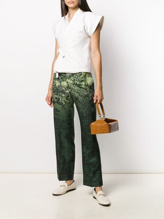 Low-Rise Printed Trousers
