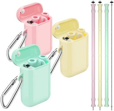 Comvin Silicone Straws (3-Pack)