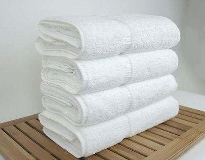 Luxury Hotel & Spa Bath Towel 100% Genuine Turkish Cotton (Set Of 4)