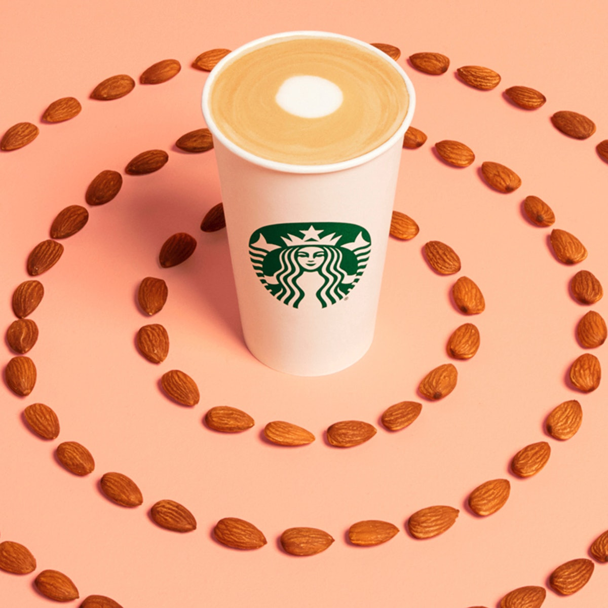 Starbucks' Almondmilk Honey Flat White boasts 225 mg of caffeine in a grande size.