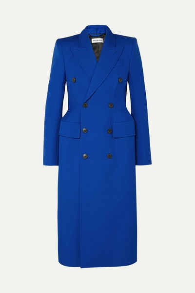 Hourglass Double-Breasted Wool-Blend Coat
