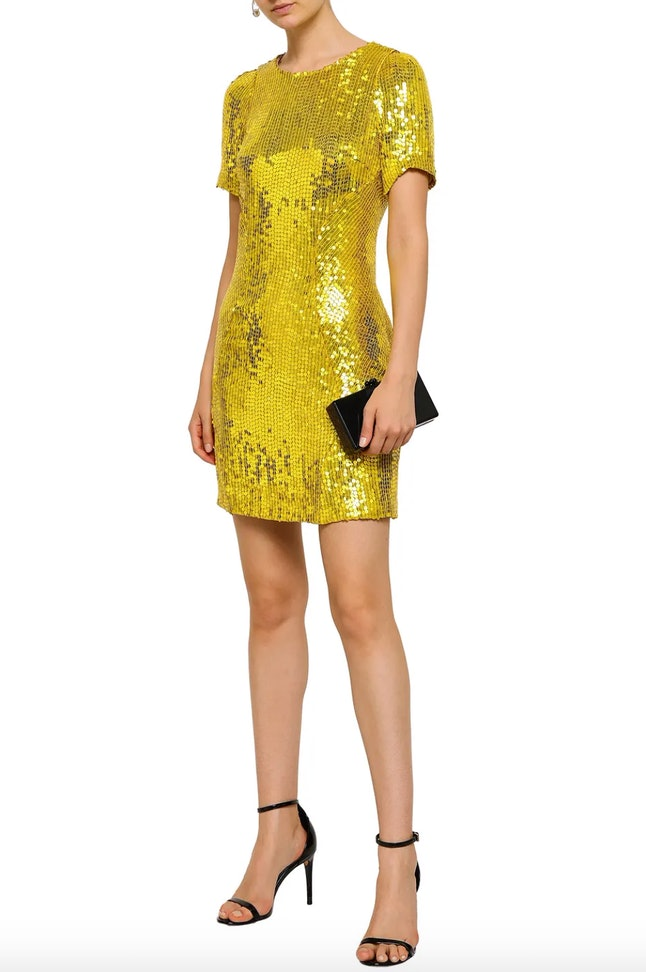 Dupe Gugu Mbatha-Raw's Golden Globes 2020 look with this gold sequinned mini dress