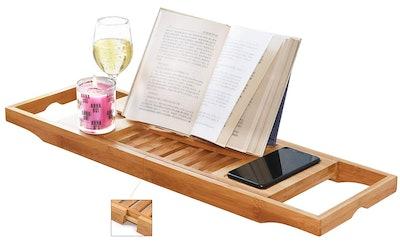 DOZYANT Bamboo Bathtub Tray Caddy