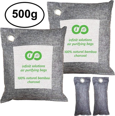 Infinit USA Bamboo Charcoal Air Purifying Bags (4-Pack)