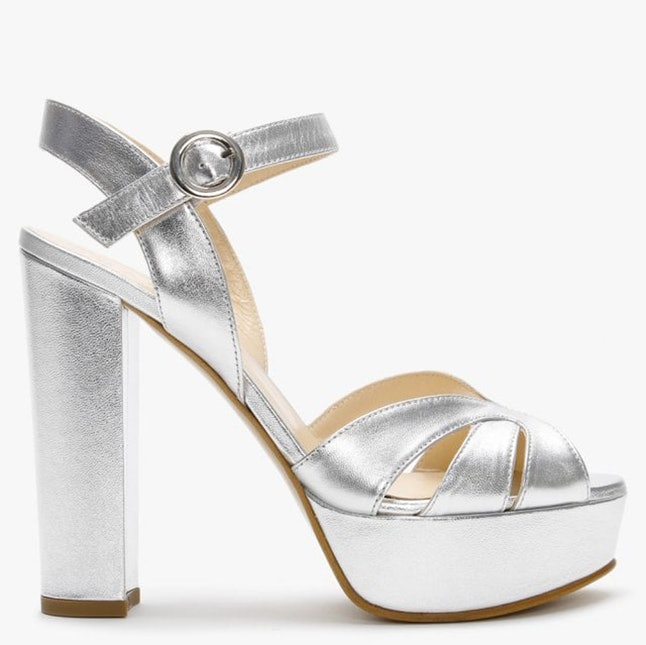 Get Lucy Boynton's silver Louis Vuitton Golden Globes heels for less