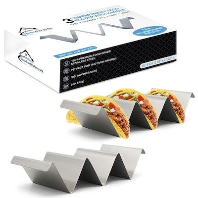 Sparks Kitchen Co. 2 Pack Taco Holder Stand