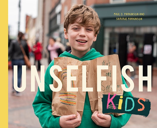 A picture of the cover of 'Unselfish Kids.'
