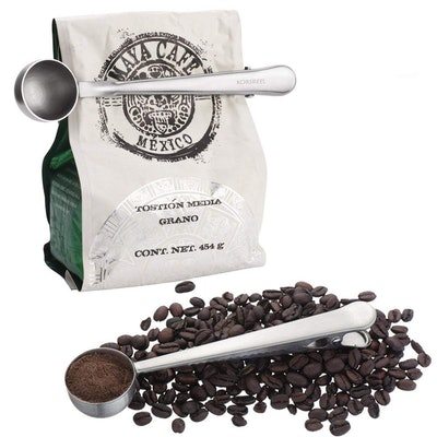 Stainless Steel Coffee Scoop and Bag Clip