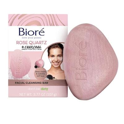 Bioré Rose Quartz With Charcoal Facial Cleansing Bar