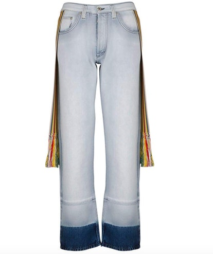 Scarf-Detailed Straight Jean