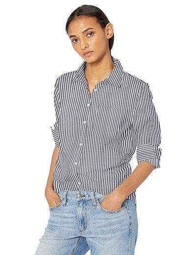 Amazon Essentials Women's Long-Sleeve Poplin Shirt