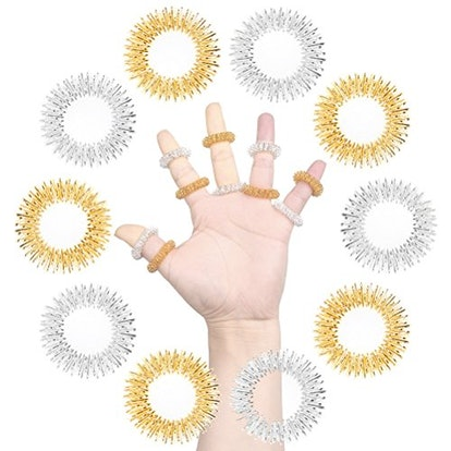 SUMAJU 10Pcs Acupressure Massage Rings