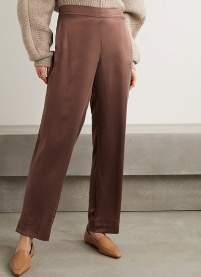 London washed-silk pajama pants