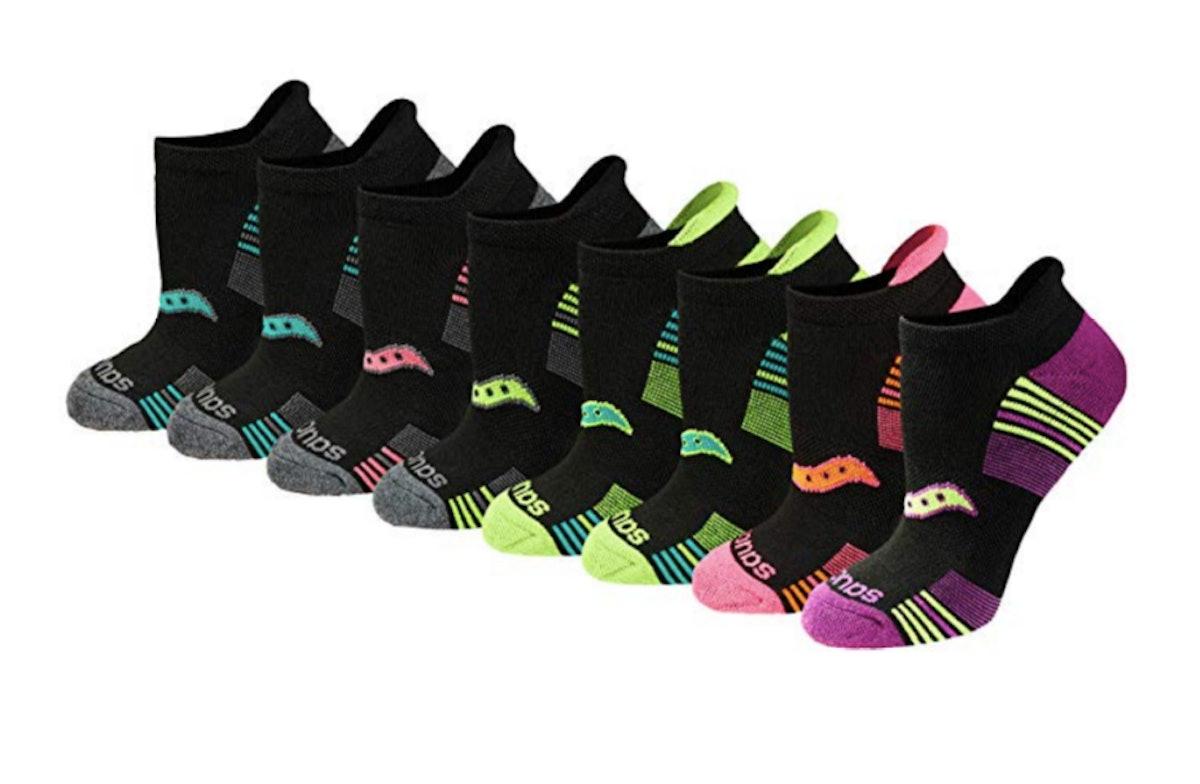 Saucony Women's Performance No-Show Sport Socks (8-Pack)
