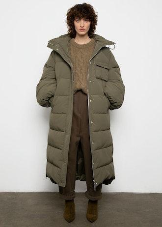 Long Puffy Coat in Kalamata