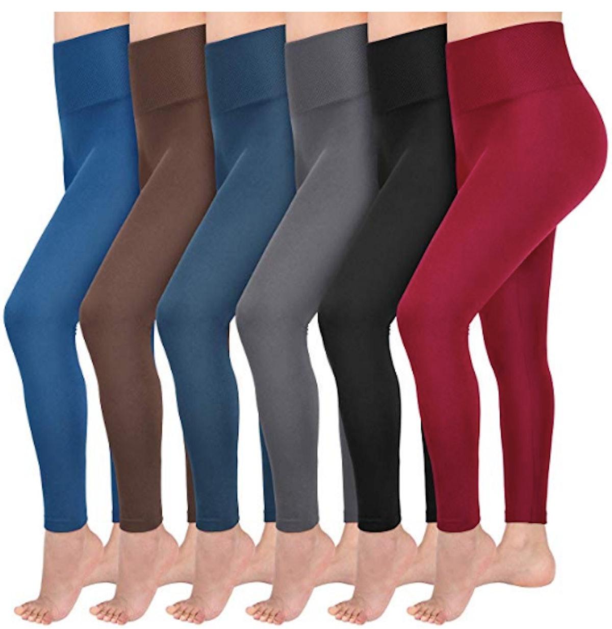 Abodhu Fleece Lined Leggings (6-Pack)