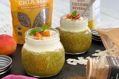 Chia seed pudding using Trader Joe's ingredients.