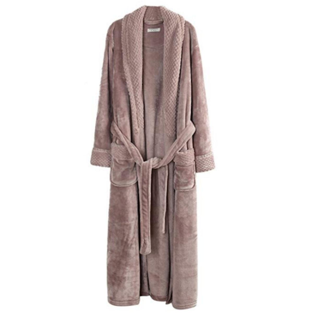 Richie House Women's Plush Soft Warm Fleece Bathrobe Robe