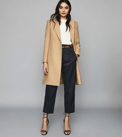 Erin Wool-Blend Coat In Camel